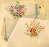 Embroidered Galouchi Guest Towels with Easter Egg