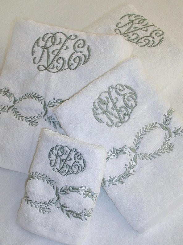 Boca Embroidered Monogrammed Bath Towels Hamburg House