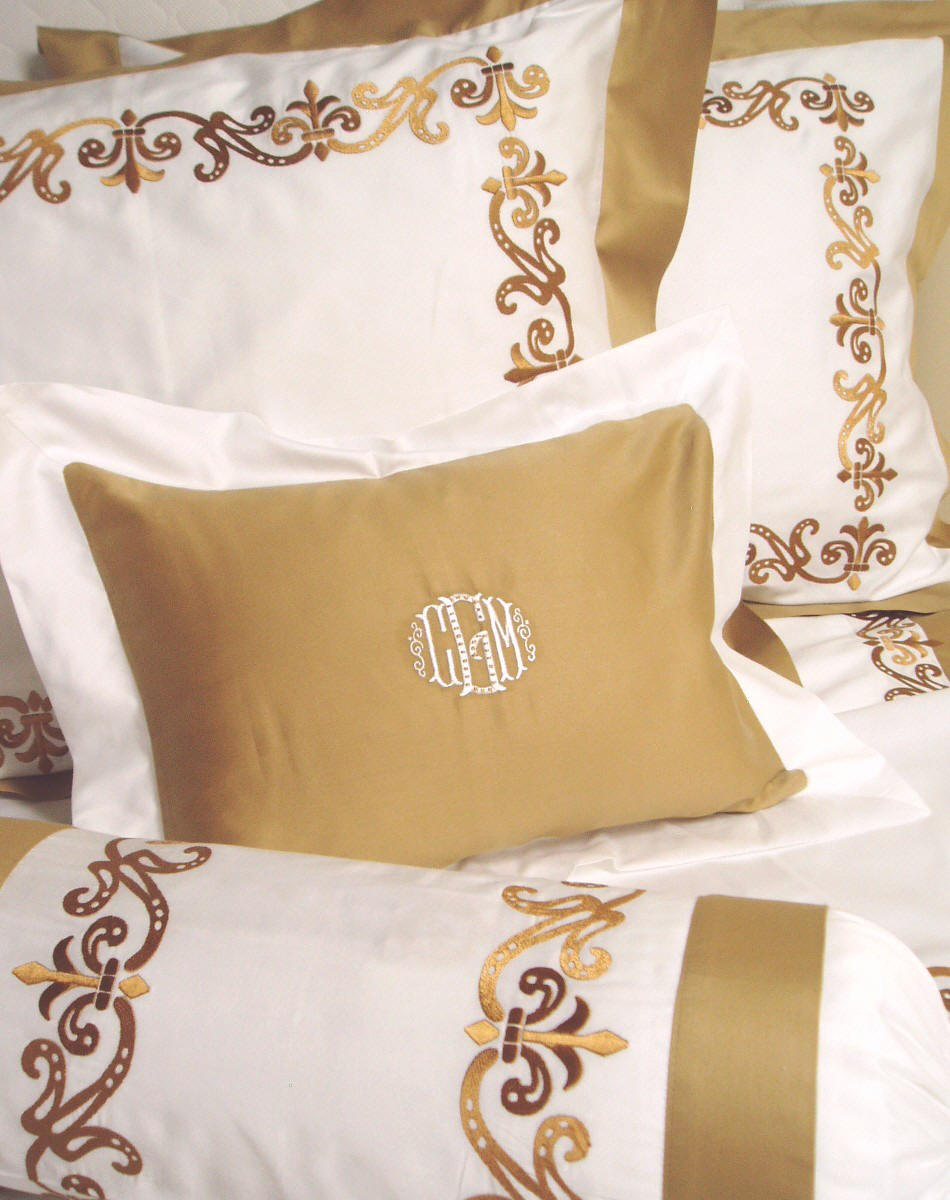 Embroidery Designs For Bed Sheets - Customized couture embroidered bed linens sheets bed coverings made to your specifications