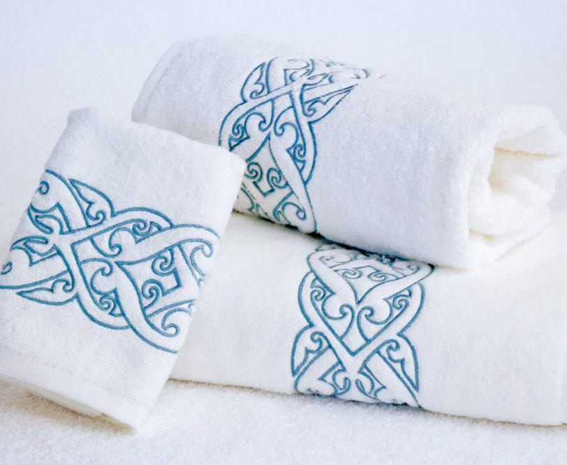 See our selections of custom embroidered and monogrammed bath towels!