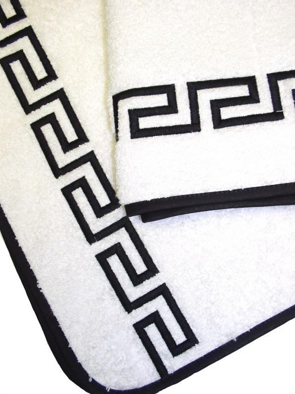 Greek Keytena Luxury Embroidered Bath Towels