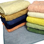 Monogrammed Bath Towels-9 Colors with piped border