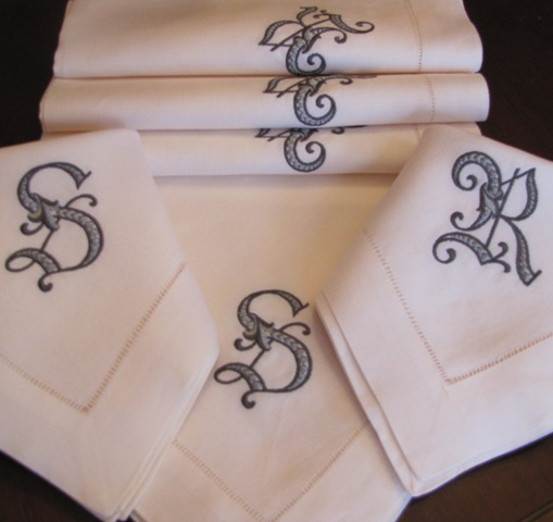 Elyse Signature Monogrammed Table Linens