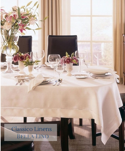 Classico Fine Hemstitched Table Linens Napkins, Placemats, Cocktail  Napkins, Table Cloths And