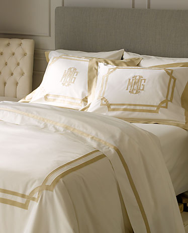 Applique Monogram Bed Linens Parterre Bed Linens By Matouk