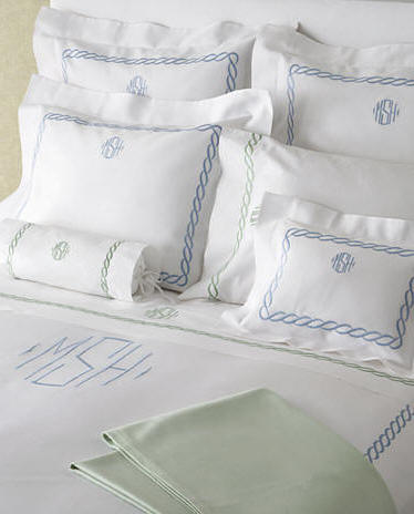 Matouk Pique Bed Linens With Custom Chain Embroidery. Choose Your  Embroidery Color And Then Your