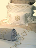 Suede Embroidered Bed Linens