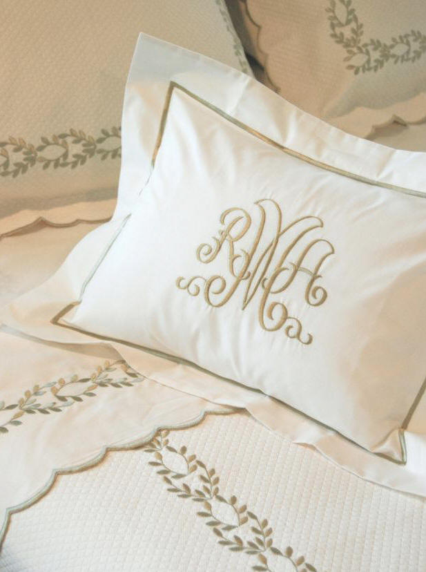 Camilla Custom Embroidered Bed Linens