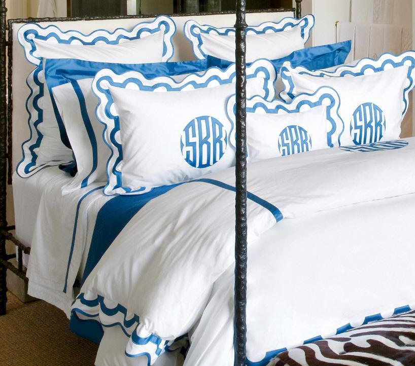 Click Here-Exquisite Mirasol Applique monogrammed bed linens!