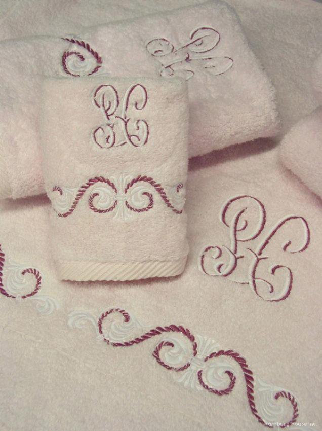 Monogrammed bathroom towels best home design