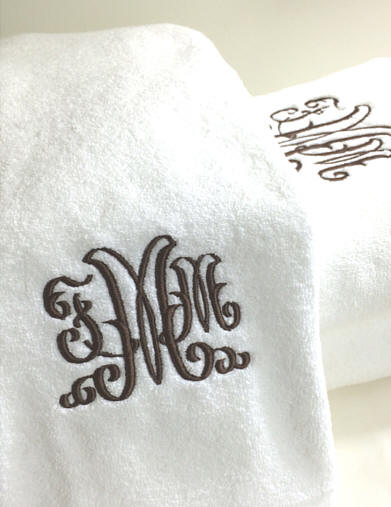 Madison Couture Monogrammed Egyptian Cotton Bath Towels