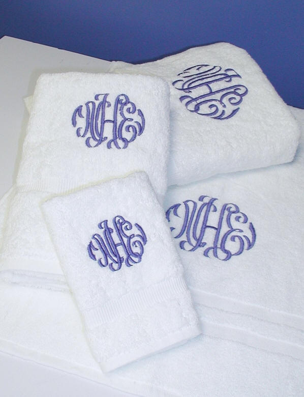 Monogram Bath Towels And Bath Linens By Countess
