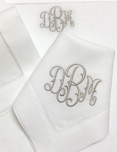 signature monogram styles- bella lino custom linens