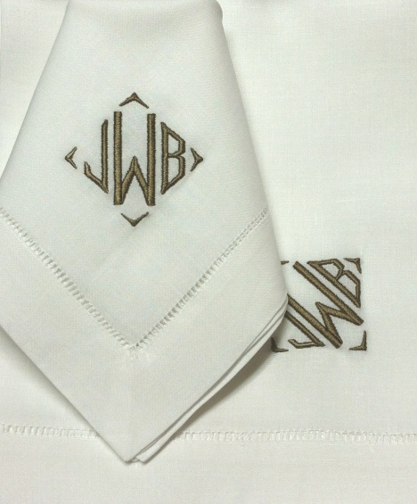 luxury monograms for luxury bed  bath and table linens