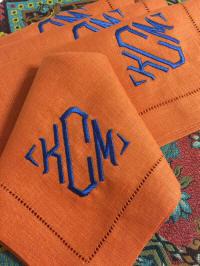 signature colour blake monogrammed linen napkins - Linen Monogrammed Napkins