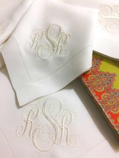 lily signature monogrammed napkins