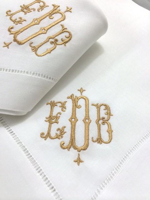 isabella monogrammed linen napkins cocktail napkins guest towels - Linen Monogrammed Napkins