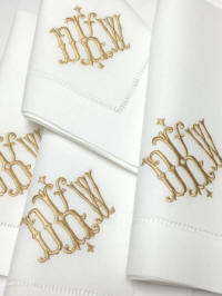 shelby monogram signature collection isabella signature monogrammed napkins placemats and guest towels - Linen Monogrammed Napkins