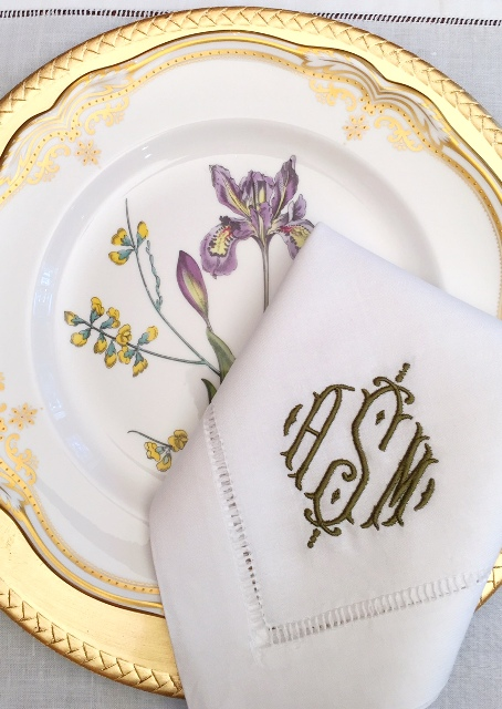Sasha Signature Monogrammed Napkins & Table Linens