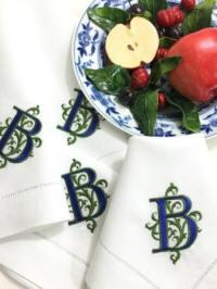 Danielle Signature Monogrammed Napkins · Gigi Signature Monogrammed Table  Linens ...