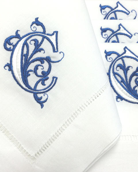 venezia monogrammed napkins cocktail napkins and guest towels - Linen Monogrammed Napkins