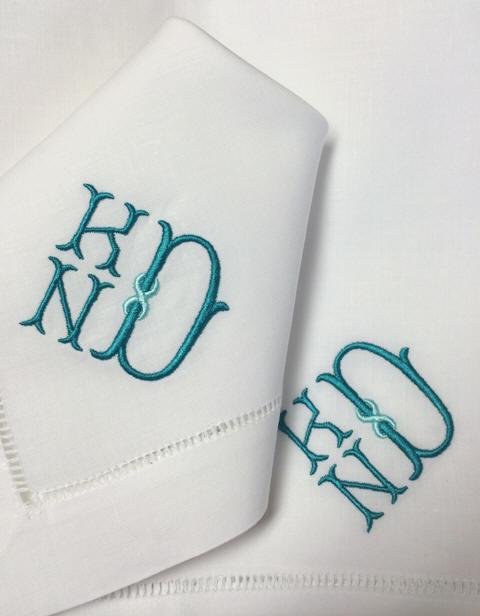 weston signature monogram signature weston monogrammed napkins - Linen Monogrammed Napkins