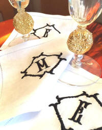Winslow monogrammed linen cocktail napkins!