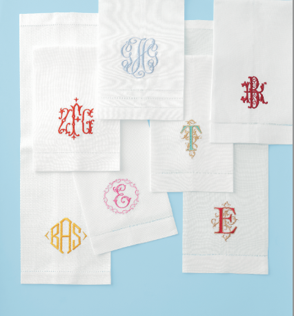 monogrammed linen guest towels linen guest towels