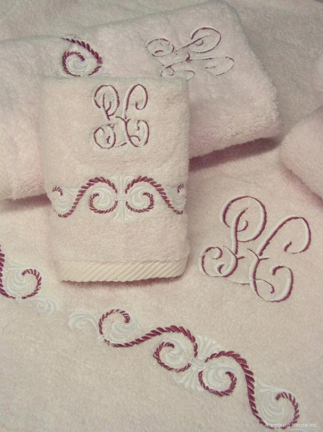 royal embroidered bath towels